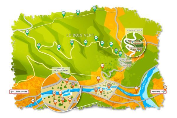 Nature activities and family activities map